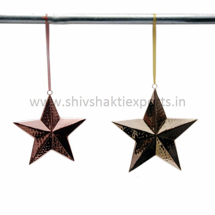 Christmas Decorative Stars Brass & Copper Platting
