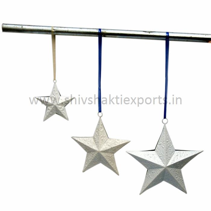 Christmas Decorative Stars White Powder Coating