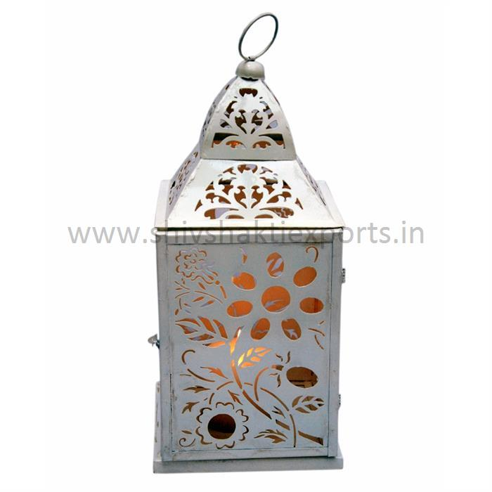 Candle Lantern Iron Powder Coated