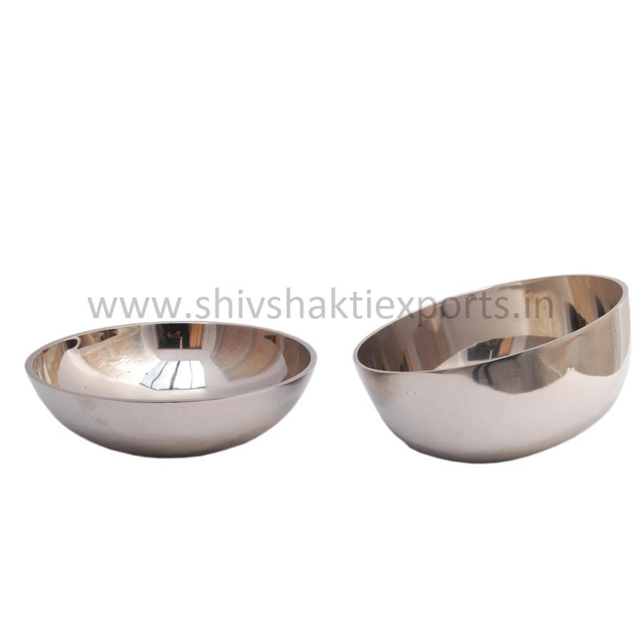 Serving Bowl with Nickel Platting